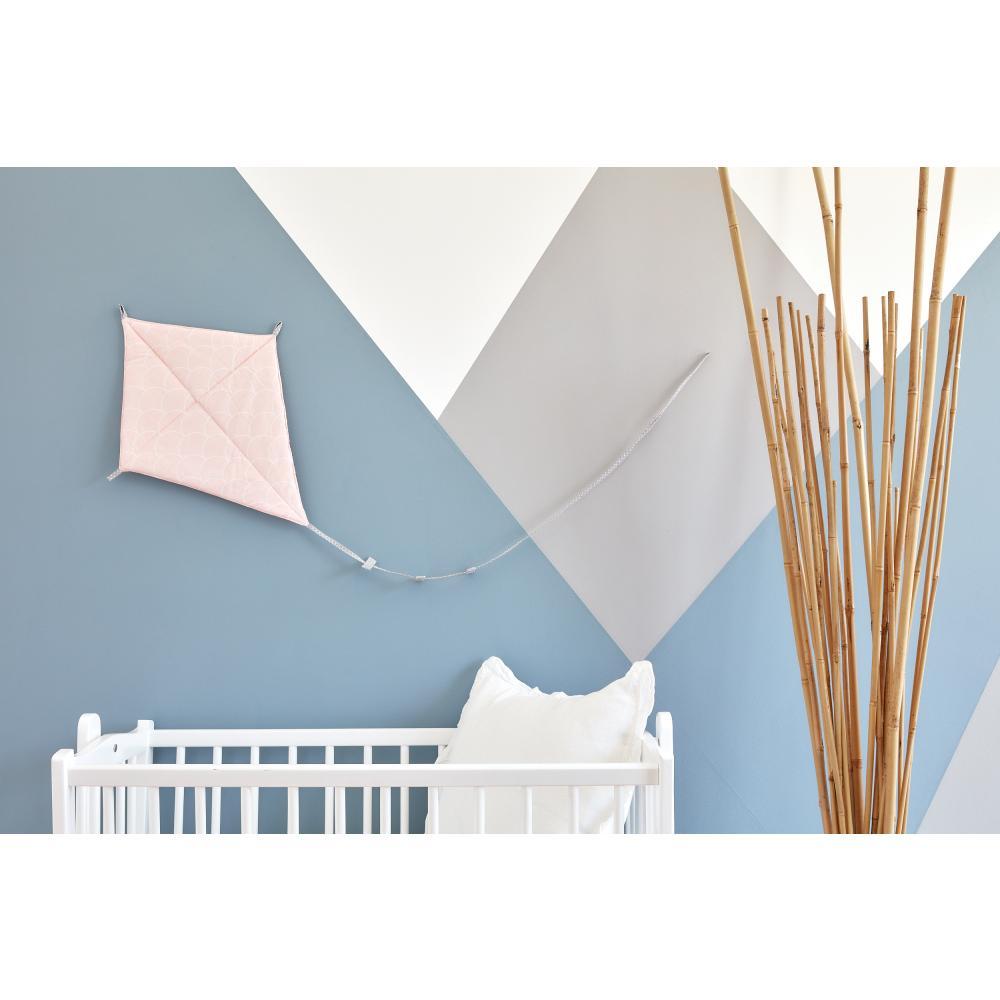 KraftKids Dekoration Luftdrache weiße Halbkreise auf Pastelrosa