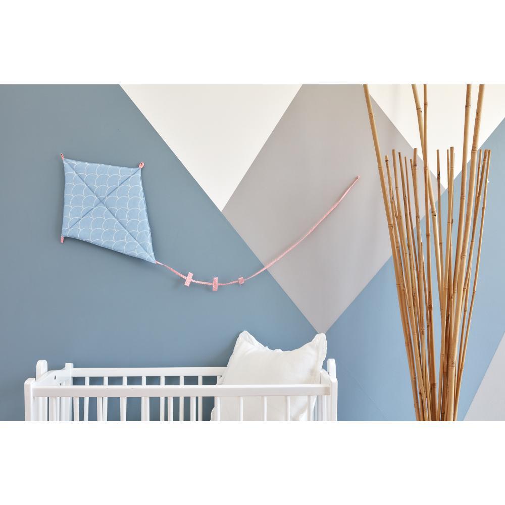 KraftKids Dekoration Luftdrache weiße Halbkreise auf Pastelblau