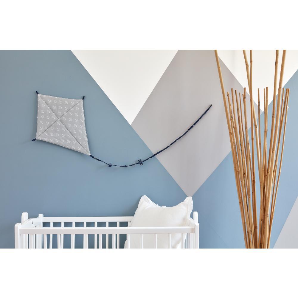 KraftKids Dekoration Luftdrache weiße Anker auf Grau