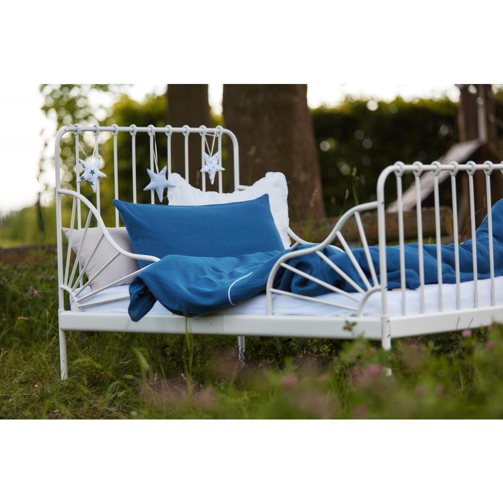 KraftKids Bettwäscheset Musselin blau 100 x 135 cm, Kissen 40 x 60 cm