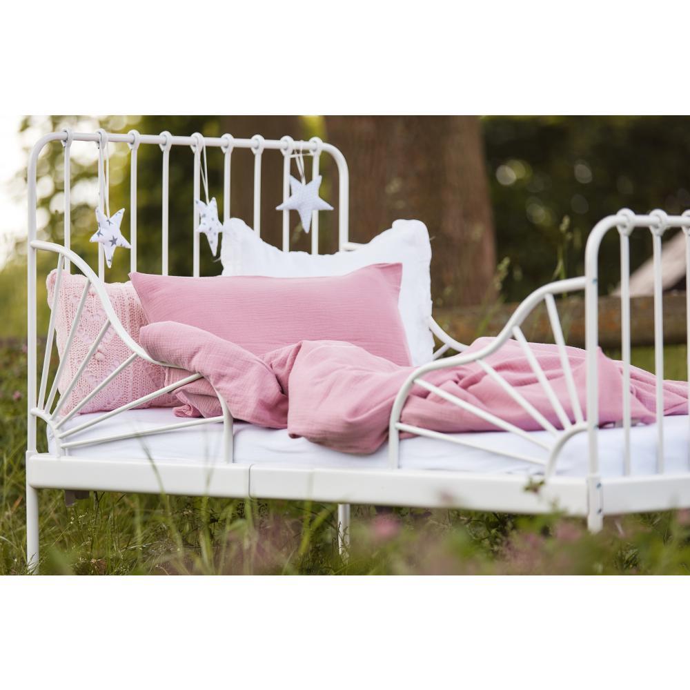 KraftKids Bettwäscheset Musselin rosa 140 x 200 cm, Kissen 80 x 80 cm