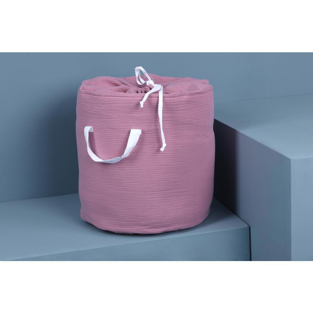 KraftKids Spielzeugkorb Musselin rosa