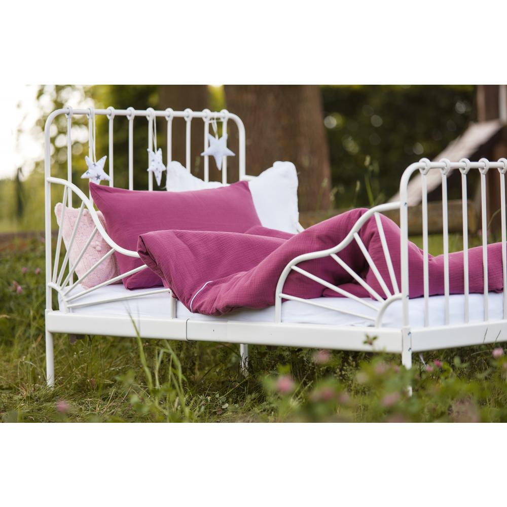 KraftKids Bettwäscheset Musselin purpur 140 x 200 cm, Kissen 80 x 80 cm