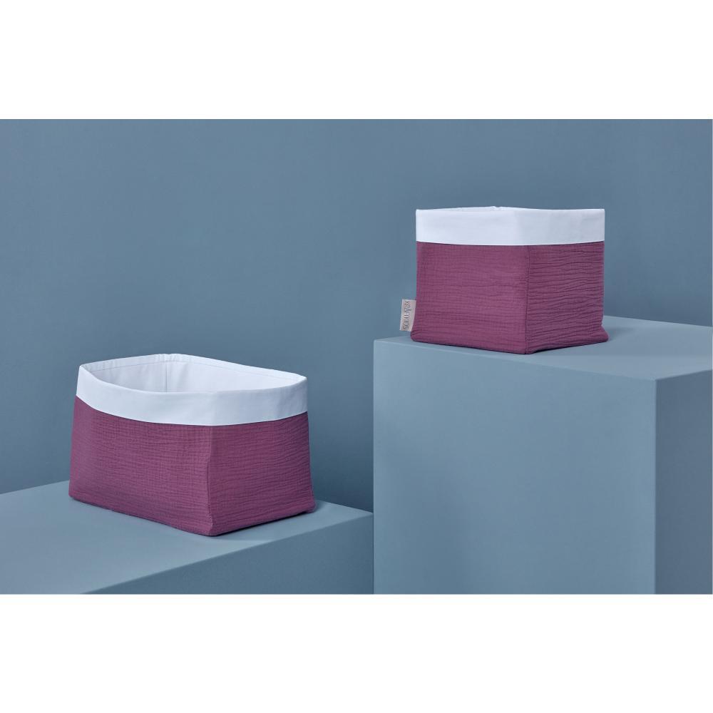 KraftKids Körbchen Musselin purpur 20 x 20 x 20 cm