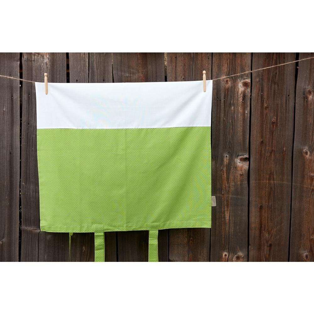 KraftKids Bezug für Wickeltischauflage weiße Punkte auf Grün
