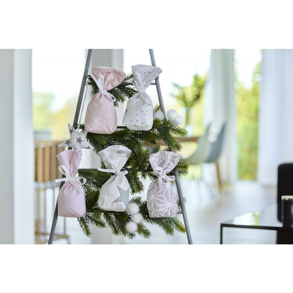 KraftKids Adventskalender rosa grau 24 Stoff Säckchen zum Befüllen Baumwolle verschiedene Farbrichtungen für Groß und Klein