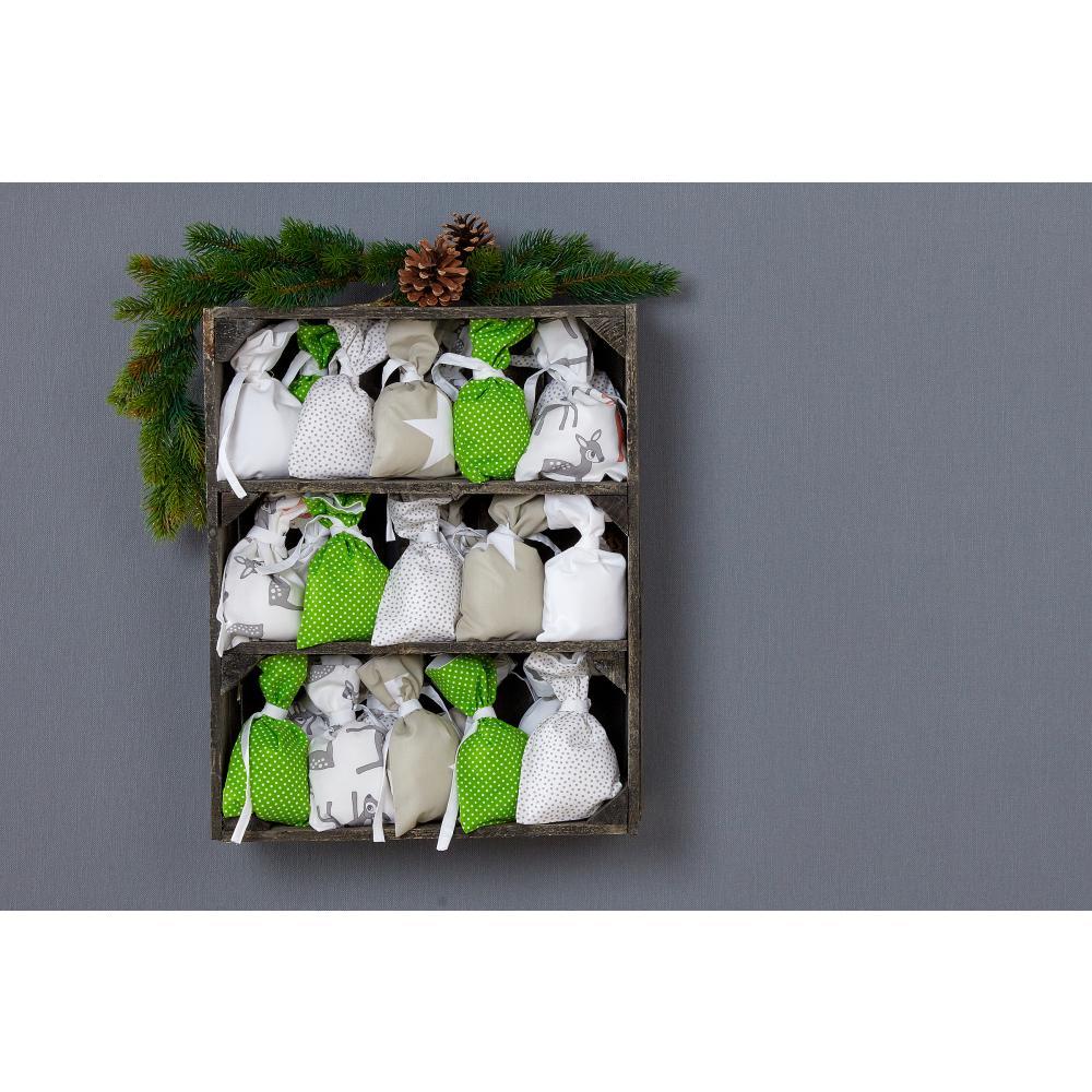 KraftKids Adventskalender neutralen Farben 24 Stoff Säckchen zum Befüllen Baumwolle verschiedene Farbrichtungen für Groß und Klein
