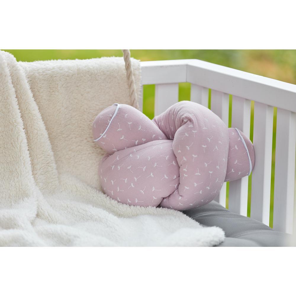 KraftKids Bettrolle Musselin rosa Pusteblumen Stärke: 10 cm, Rollenlänge 140 cm