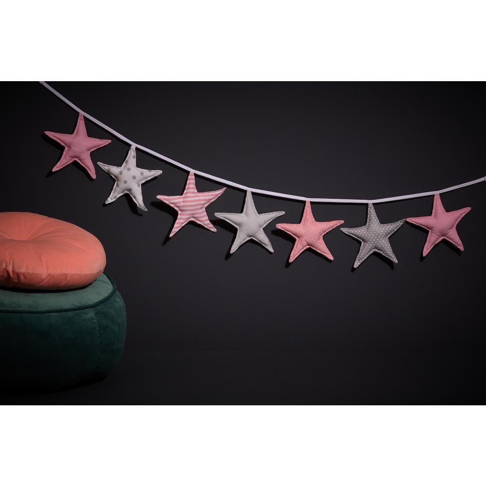 KraftKids Dekoration Wimpelkette rosa