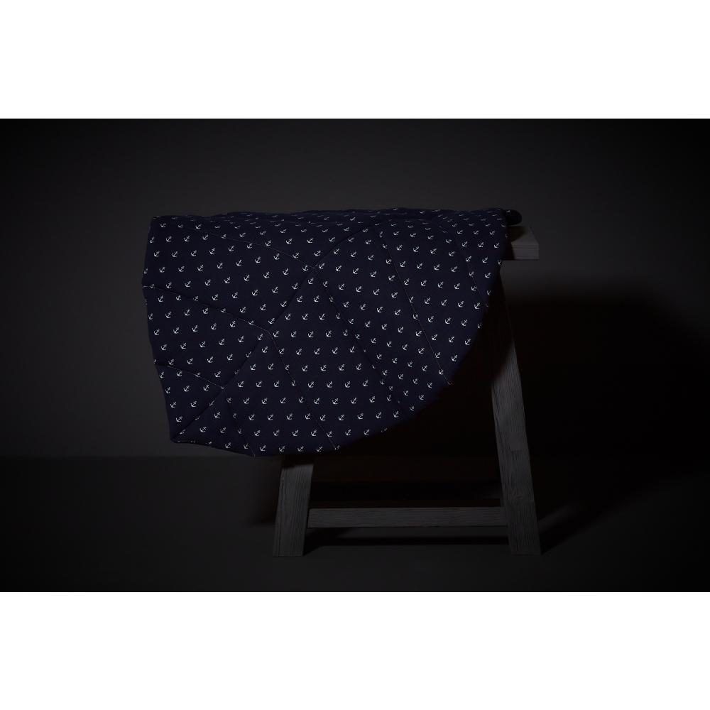 KraftKids Spielmatte Musselin dunkelblau Anker