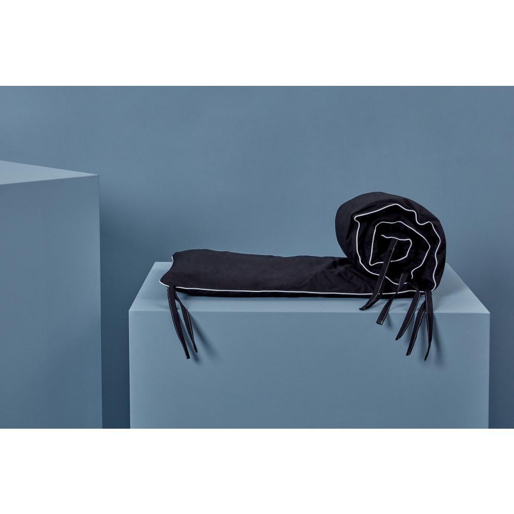 KraftKids Nestchen Unischwarz Nestchenlänge 60-70-60 cm für Bettgröße 140 x 70 cm