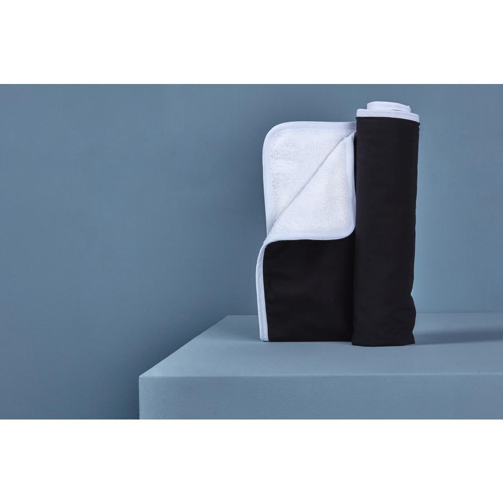 KraftKids Wickelunterlage Unischwarz 3 Lagen wasserundurchlässig weich Frotte 100% Baumwolle