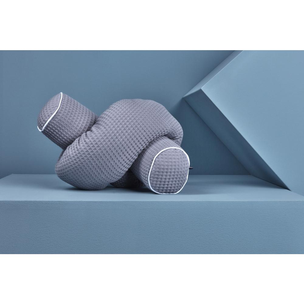 KraftKids Bettrolle Waffel Piqué grau Stärke: 10 cm, Rollenlänge 140 cm
