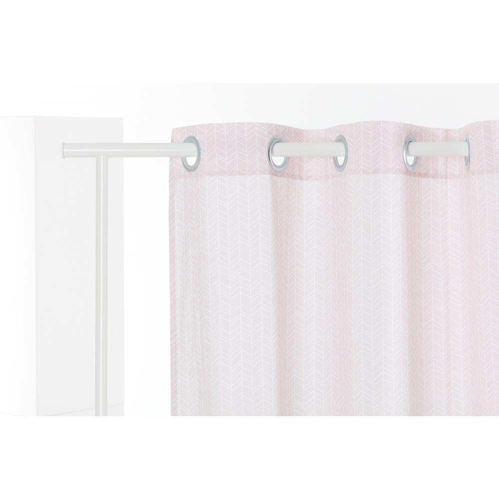 KraftKids Gardinen weiße Feder Muster auf Rosa Länge: 230 cm