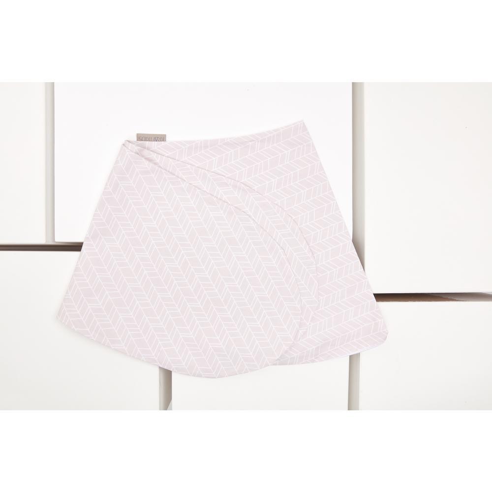 KraftKids Stillkissenbezug weiße Feder Muster auf Rosa