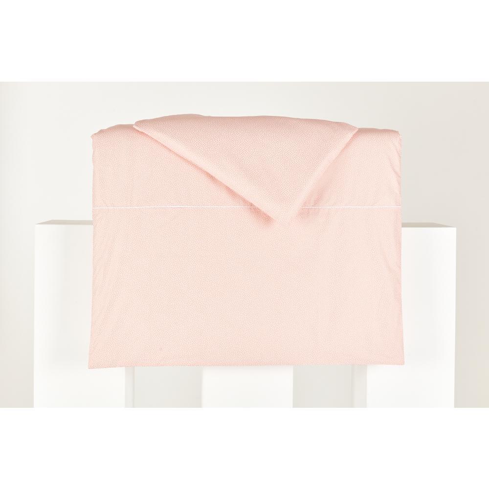 KraftKids Bettwäscheset goldene unregelmäßige Punkte auf Rosa 140 x 200 cm, Kissen 80 x 80 cm