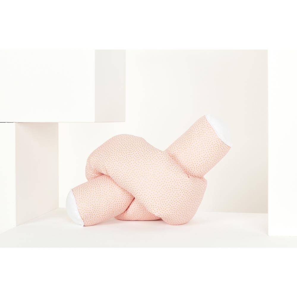 KraftKids Bettrolle goldene unregelmäßige Punkte auf Rosa Stärke: 10 cm, Rollenlänge 140 cm