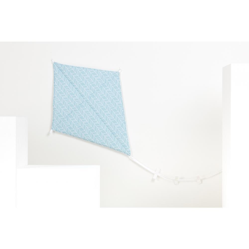 KraftKids Luftdrache weiße Feder Muster auf Blau