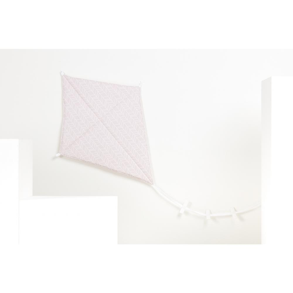 KraftKids Luftdrache weiße Feder Muster auf Rosa