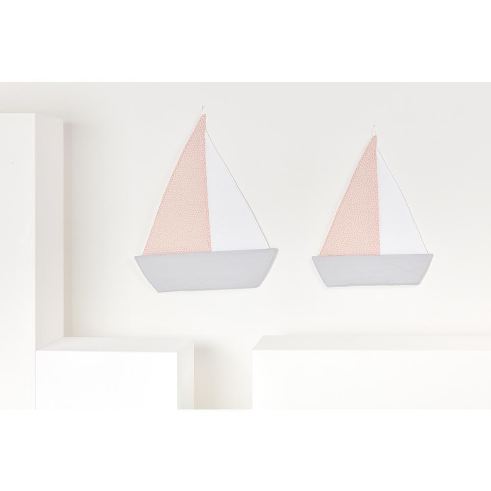 KraftKids Segelboot goldene unregelmäßige Punkte auf Rosa
