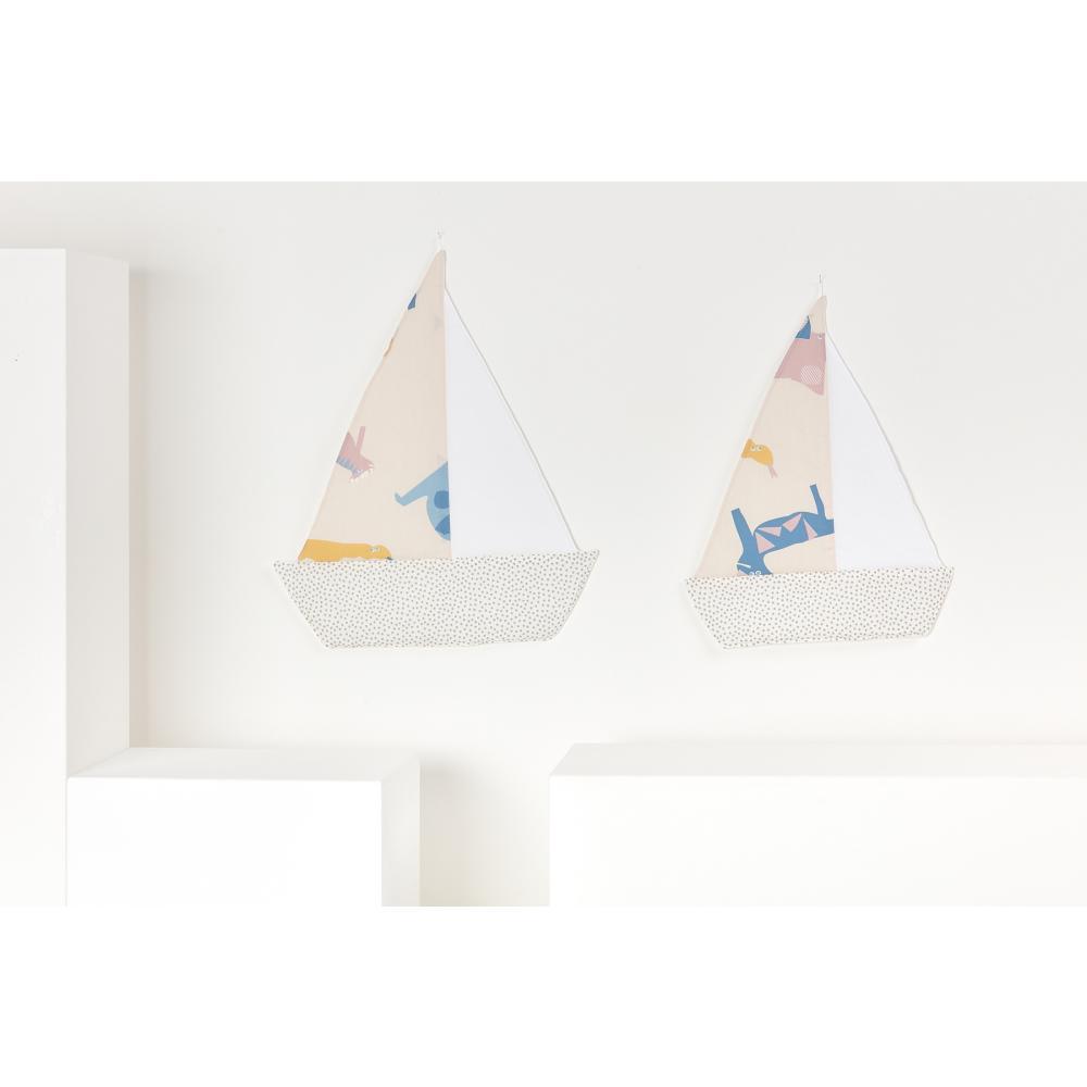 KraftKids Dekoration Segelboot Zoe´s Dinosaurier auf Beige