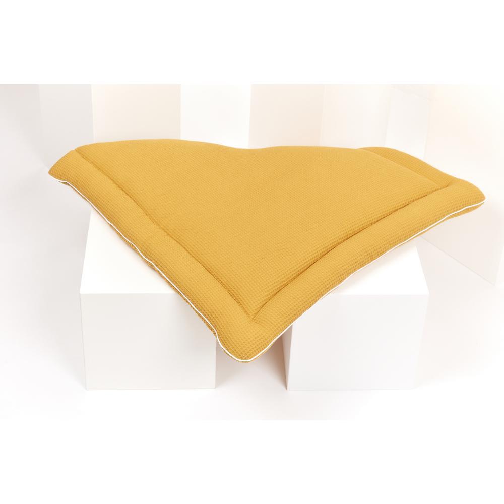 KraftKids Wickelauflage Waffel Piqué mustard 85 cm breit x 75 cm tief