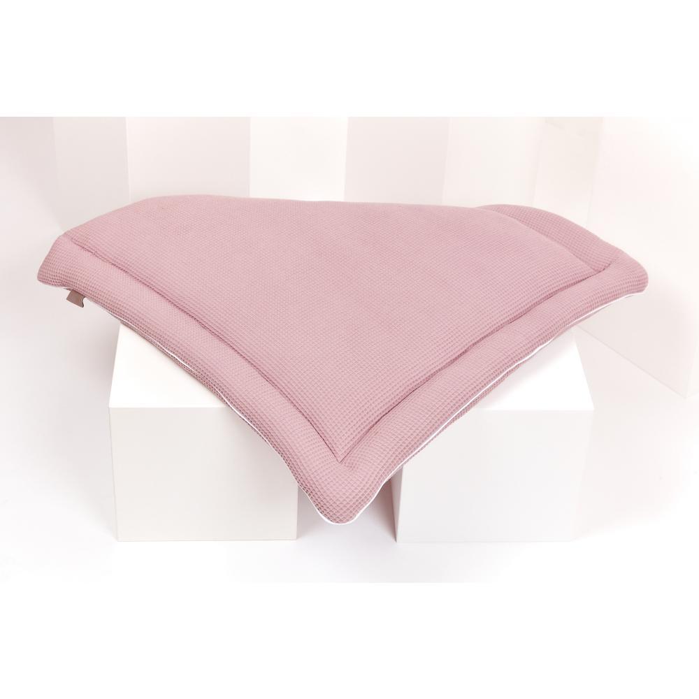KraftKids Wickelauflage Waffel Piqué rosa 85 cm breit x 75 cm tief