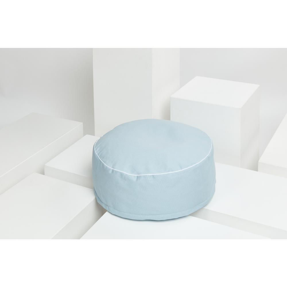 KraftKids Sitzpuff Canvas blau mit Micro-EPS-Perlen mit TOXPROOF-ZERTIFIKAT des TÜV-Rheinland