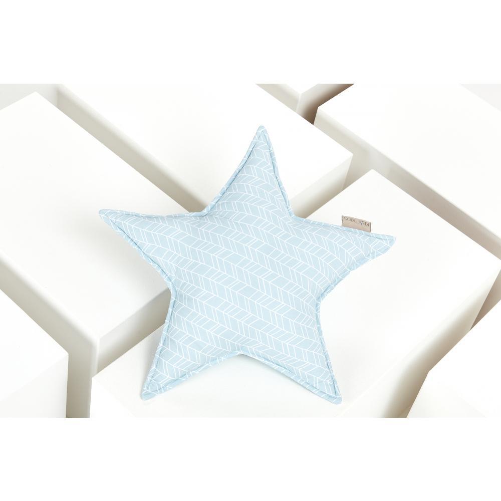 KraftKids Tipi Sets in Blau weiße Feder Muster auf Blau