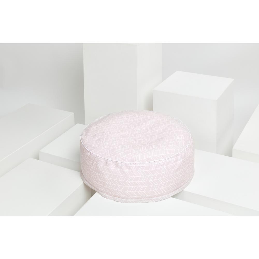 KraftKids Tipi Sets in Rosa weiße Feder Muster auf Rosa mit Micro-EPS-Perlen mit TOXPROOF-ZERTIFIKAT des TÜV-Rheinland