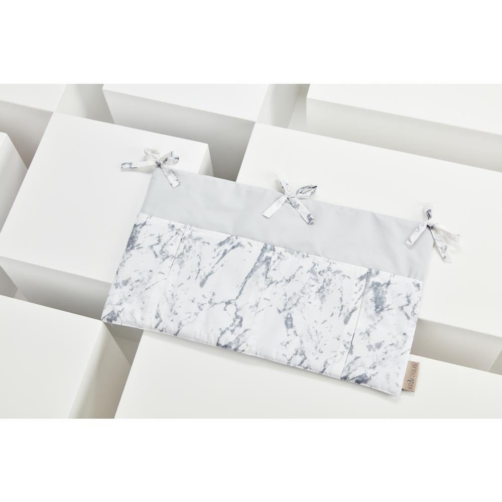 KraftKids Betttasche weißer Marmor