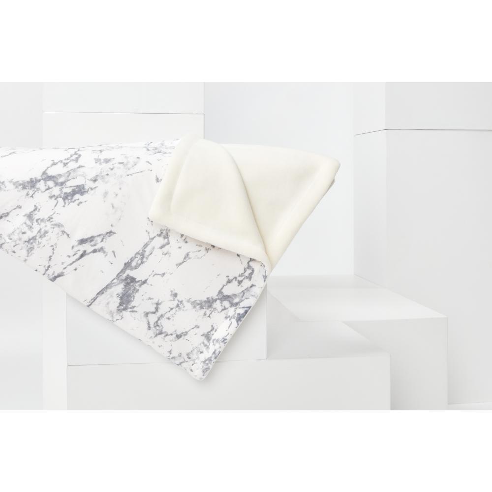 KraftKids Babydecke weißer Marmor