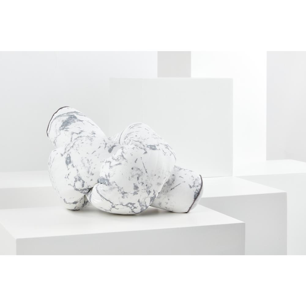 KraftKids Bettrolle weißer Marmor Stärke: 10 cm, Rollenlänge 140 cm