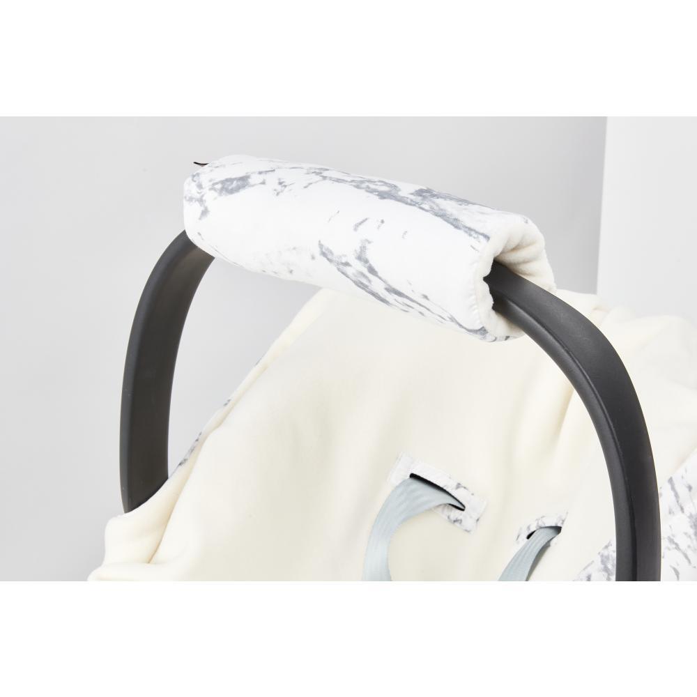 KraftKids Armschoner Babyschale weißer Marmor Babyschale Armpolster