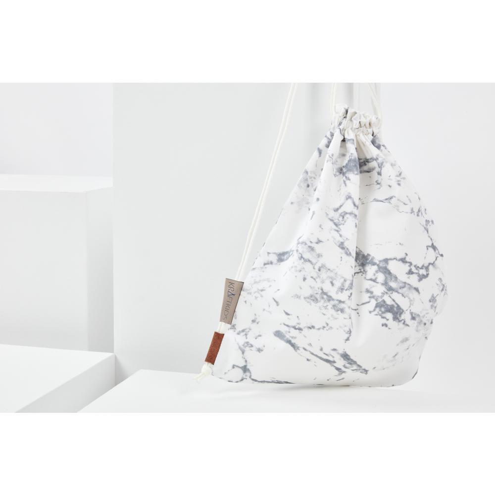 KraftKids Turnbeutel weißer Marmor