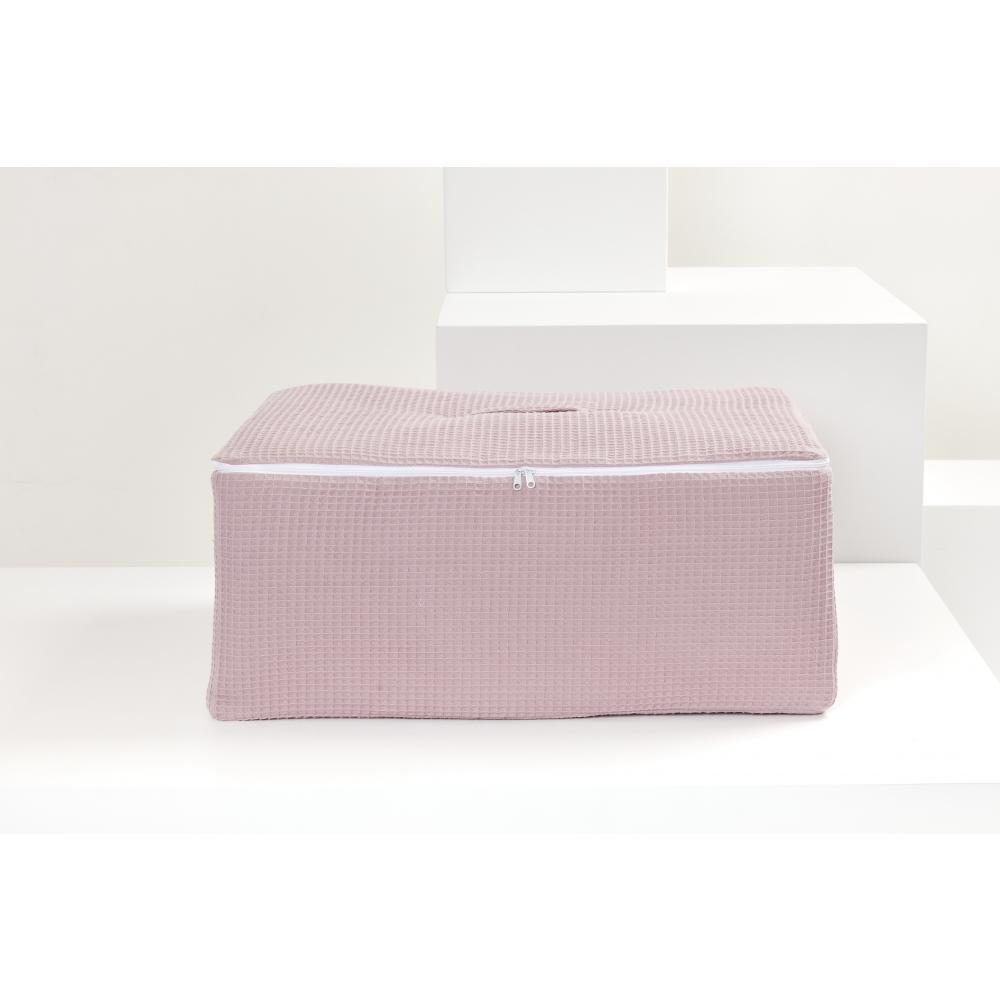 KraftKids Körbchen für Unterbett Waffel Piqué rosa 60 x 40 x 17 cm