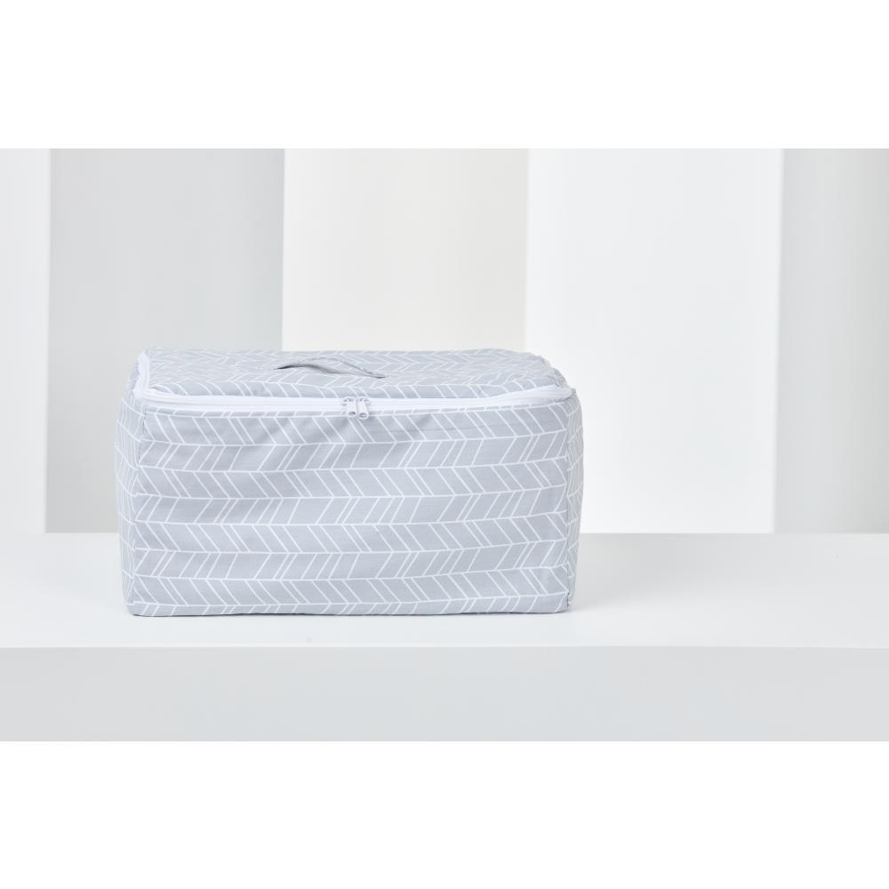 KraftKids Körbchen verschliessbar weiße Pfeile auf Grau 30 x 18 x 15 cm