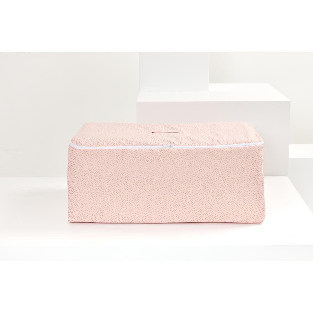 KraftKids Körbchen für Unterbett goldene unregelmäßige Punkte auf Rosa 60 x 40 x 17 cm