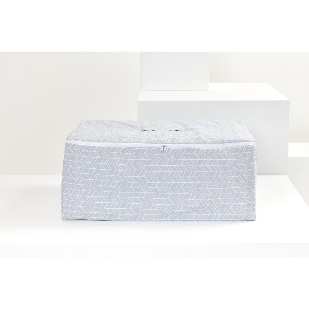 KraftKids Körbchen für Unterbett weiße Pfeile auf Grau 60 x 40 x 17 cm