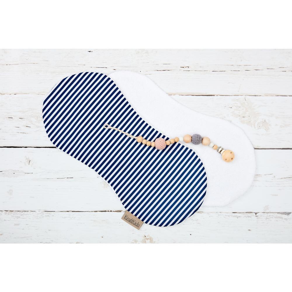 KraftKids Spucktuch Streifen dunkelblau