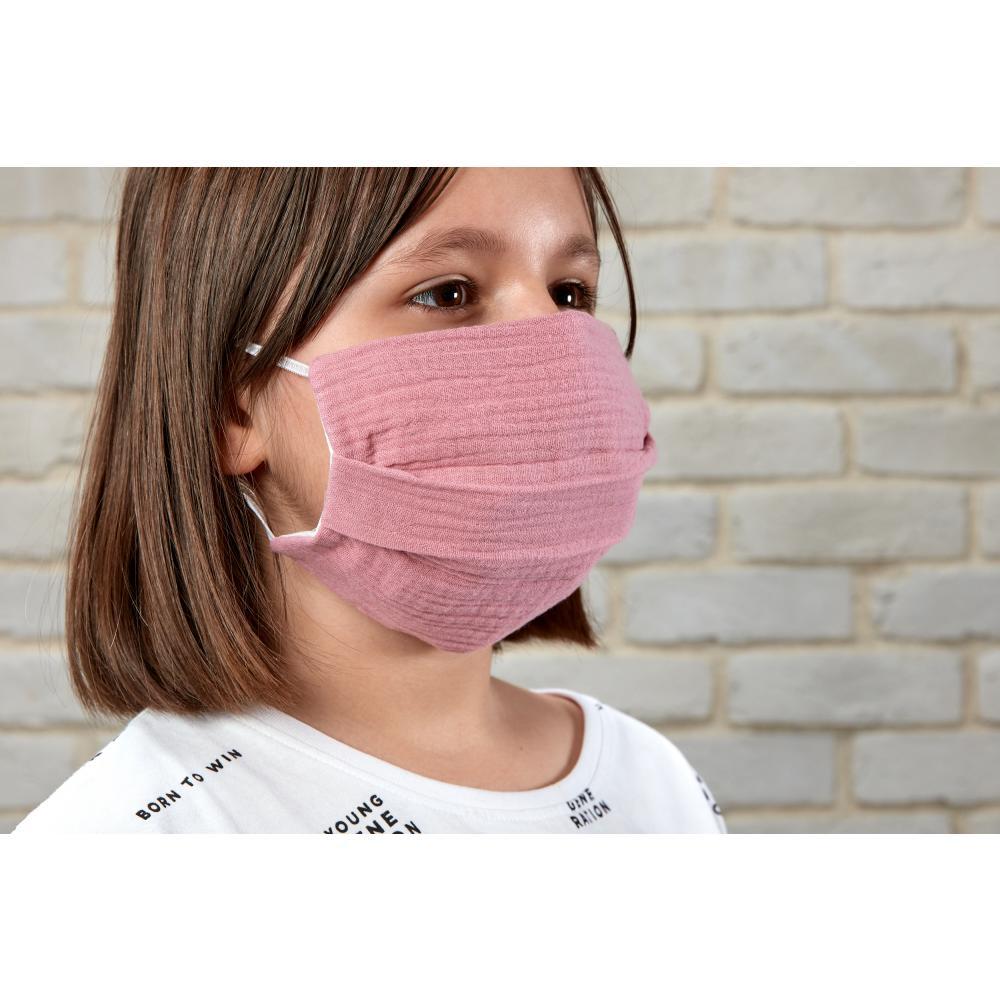 KraftKids Gesichtsmaske Musselin rosa