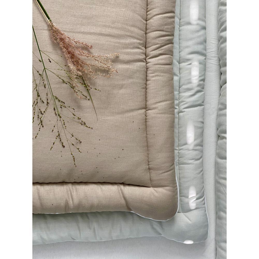 KraftKids Wickelauflage Leinen Natur Braun breit 78 x tief 78 cm z. B. für MALM oder HEMNES Kommodenaufsatz von KraftKids