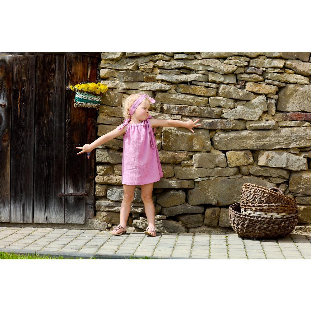 KraftKids Mädchen Kleid Musselin rosa