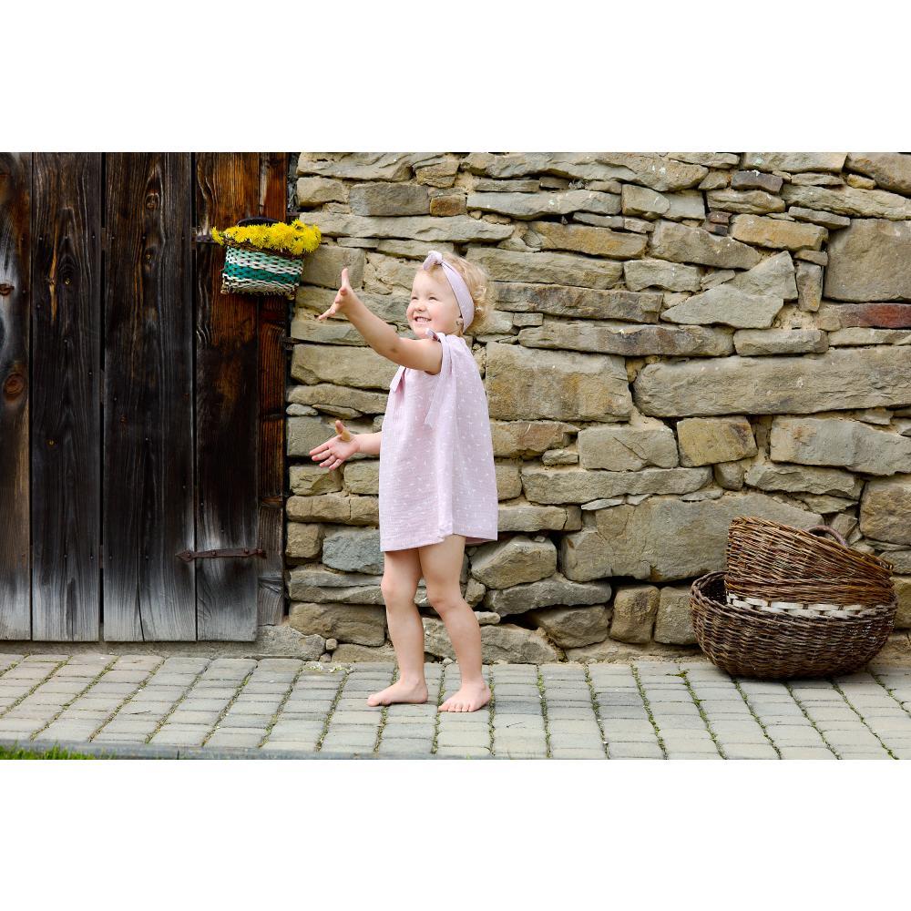 KraftKids Mädchen Kleid Musselin rosa Pusteblumen