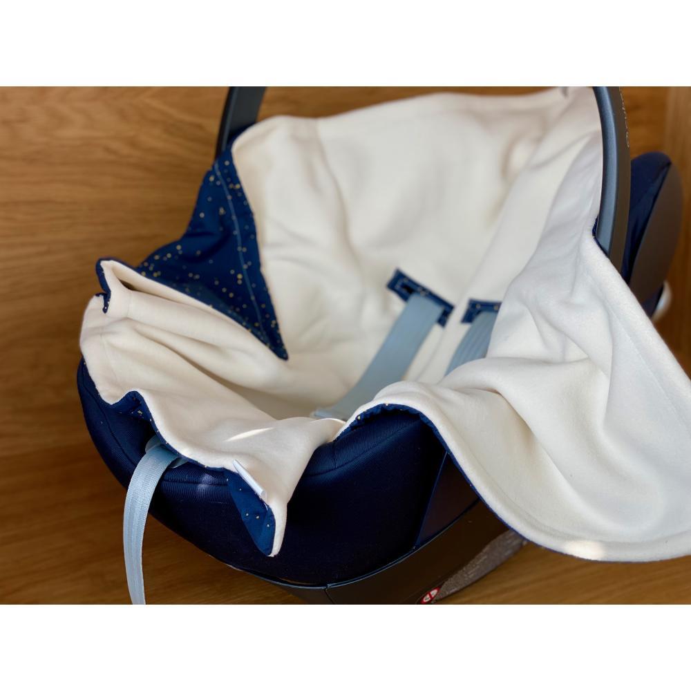 KraftKids Decke für Babyschale Winter Sternenhimmel