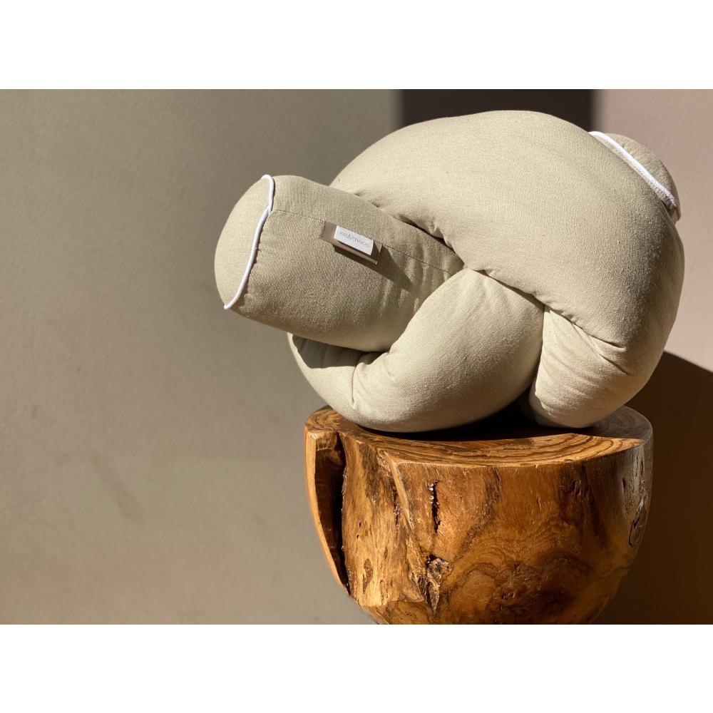 KraftKids Bettrolle Leinen Natur Braun Stärke: 10 cm, Rollenlänge 100 cm