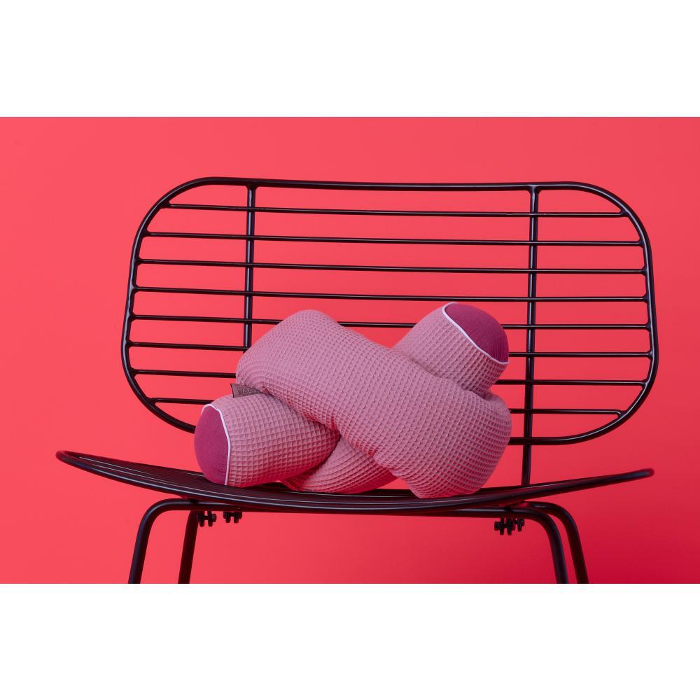 KraftKids Bettrolle Musselin purpur und Waffel Piqué rosa Stärke: 10 cm, Rollenlänge 100 cm