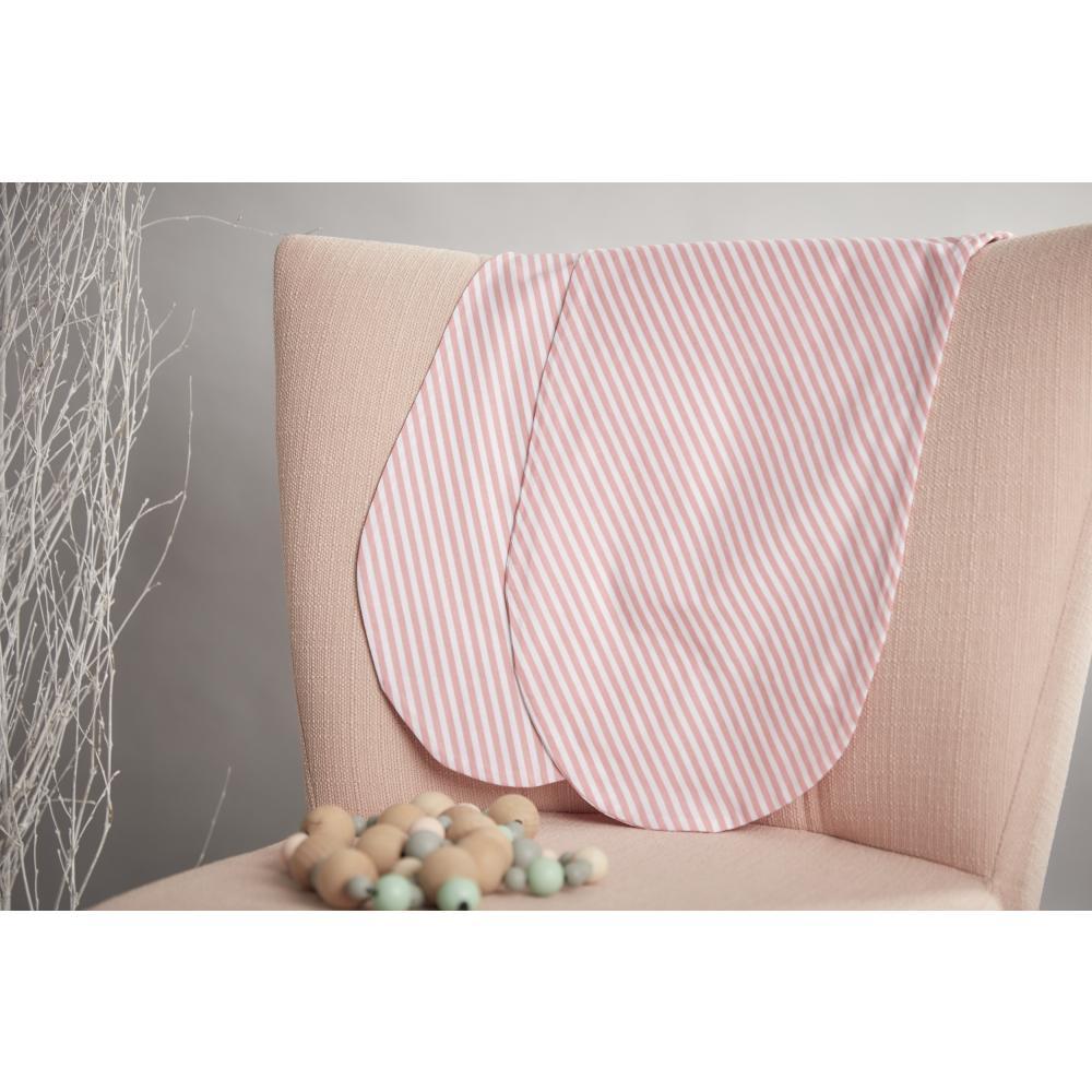 KraftKids Stillkissenbezug Streifen rosa