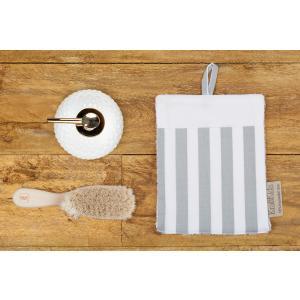 KraftKids Waschlappen dicke Streifen grau