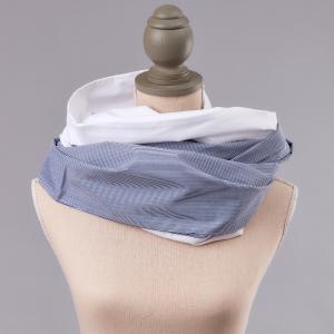 KraftKids Stilltuch Uniweiss und dünne Streifen dunkelblau